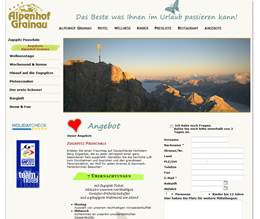 Alpenhof Grainau Website