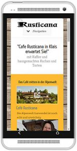 Website aus Smartphone